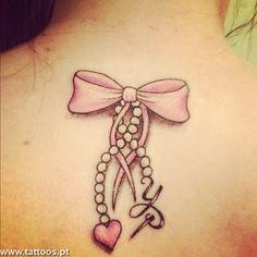 tatuagens de laço delicadas