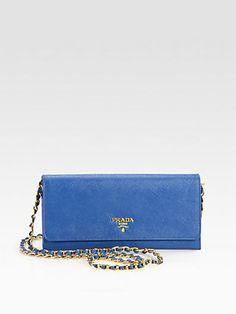 b88160b2397d3b #Prada for Mama... Prada Saffiano Metal Oro Wallet With Chain from Saks