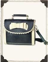 PREPPY PUNCHWORK PURSE (SMITH BLACK/CREAM)
