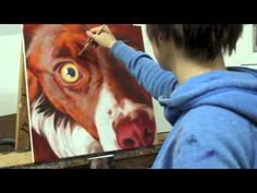 ▶ Painting Sasha the Border Collie: 'Dogality' series pet portraits - YouTube