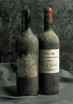 Two bottles of 1918 Château Mouton Rothschild. I think they are finally ready to drink.