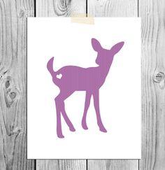Printable Deer Instant Download  Woodland by ScubamouseStudiosJr, $5.00