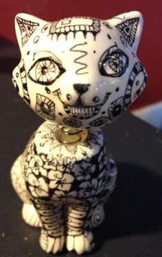 Zentangle cat!!, Doodle, Zentangle Bobblehead