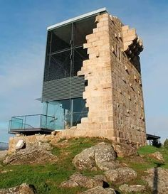 arquitectonico Incredible Stone Facade Design to Spike up Design of Buildings Architecture Design, Architecture Renovation, Facade Design, Futuristic Architecture, Amazing Architecture, Contemporary Architecture, Landscape Architecture, Exterior Design, Stone Facade
