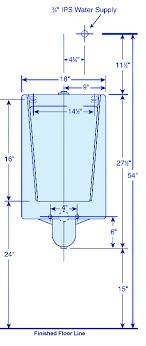 Urinal rough in plumbing pinterest search and in for Toilet water line rough in