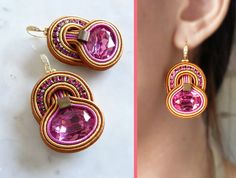 Hey, I found this really awesome Etsy listing at https://www.etsy.com/au/listing/400767533/soutache-earrings-handmade-earrings-hand