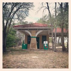 Post with 1409 views. Abandoned Gas Station on old Route 66 somewhere in Texas [OC] Old Route 66, Route 66 Road Trip, Historic Route 66, Travel Route, Old Buildings, Abandoned Buildings, Abandoned Places, Old Gas Stations, Train Stations