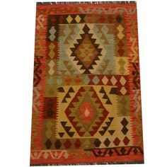 Shop for Herat Oriental Afghan Hand-woven Vegetable Dye Wool Kilim (2'8 x 4'3). Get free delivery at Overstock.com - Your Online Area Rugs Shop! Get 5% in rewards with Club O!