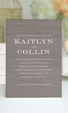 A rustic wedding invitation by @gartnerstudios for Brides.com | Click to find out how you can personalize it!