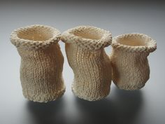 'knit together : touch'  porcelain saturated knitting