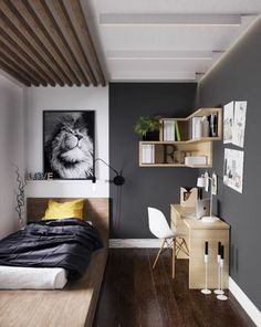 46 Amazing Decoration Ideas For Small Bedroom. A small bedroom can be a big problem, especially when considering how important this space is to your psychological and emotional well being. Minimalist Furniture, Minimalist Bedroom, Modern Bedroom, Modern Bathrooms, Minimalist Kitchen, Living Room Bedroom, Bedroom Decor, Bedroom Ideas, Bedroom Storage