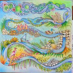 #EnchantedForest  of Johanna Basford.  coloured by Esther