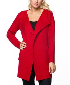 Look what I found on #zulily! Red Open Jacket by High Secret #zulilyfinds