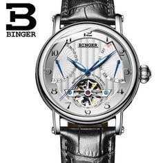 e334c52d72c BINGER Mens Watch 2017 Tourbillon Automatic Skeleton Watch – RnA Direct  Luxury Branding