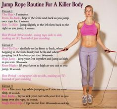 Best Jump Rope Workout - Fitness For Women by Flavia Del Monte (Fitness Femme Corde A Sauter) Fitness Workouts, Fitness Tips, Ab Workouts, Volleyball Workouts, Fitness Quotes, Zumba, Hiit, Best Weight Loss, Weight Loss Tips