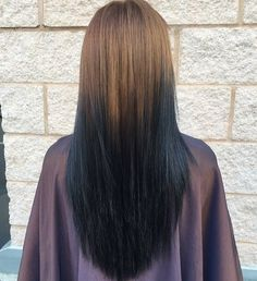 reverse+brown+to+black+ombre
