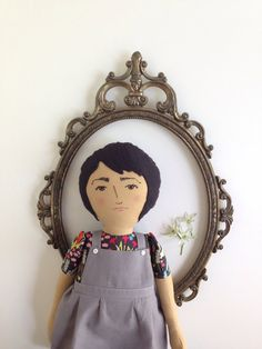 Ana handmade heirloom cloth doll with linen by BeardedFellas