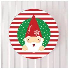Preppy Santa Elf Personalized Melamine Plate
