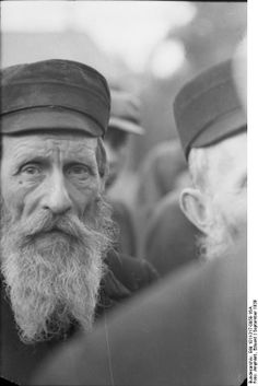 "Poland, 1939: Portrait of an old Jewish man obtained from cropping a larger group photo. With the occupation of Poland, the Germans became ""custodians"" of 2.5 million of largely poor Jews -- i.e. the type Nazi Jewish ""experts"" identified as the ""lowest quality"" of such ""pests."" In the ensuing 3 and 1/2 years, the Holocaust consumed the Polish Jewish population almost to the last."