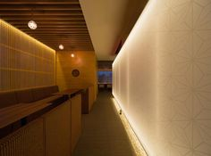 Tsukimichi Restaurant, Japan by Spinifex Restaurant Design, Continuous Lighting, Bar Design Awards, Interior Architecture, Wall Lights, Stairs, Contemporary, Dining, Appliques