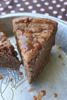Caramel Brownie Pie