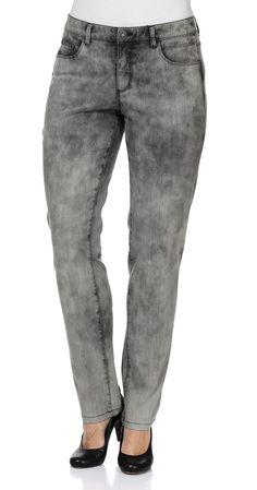 Typ , Stretch-Jeans, |Materialzusammensetzung , 98% Baumwolle, 2% Elasthan, |Waschung , grey denim, |Beinform , schmale Form, |Passform , schmale Form, |Optik , Batiklook, |Länge , Lang, |Anlass , Everyday, |Innenbeinlänge , N-Gr. 80,5 cm, K-Gr. 75,5 cm, L-Gr. 87,5 cm, | ...