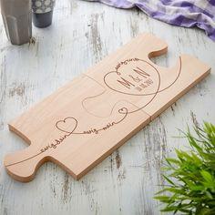 Unser Puzzle Brett mit Gravur zur Hochzeit - 2er Set - Ewig dein - das schicke Holzbrett zur Hochzeit in Puzzleform jetzt selbst gestalten!