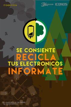 Alumna Jennifer Pons Elviro Licenciatura en Diseño Digital C.R.E. Conciencia de Reciclar Electrónicos //C.R.E. es un proyecto enfocado en informar a la gente sobre las causas y consecuencias de los desperdicios electrónicos, y que es lo que se puede hacer al respecto. ICONOS, Instituto de Investigación en Comunicación y CulturaAvenida Chapultepec No. 57, 2do Piso, Col. Centro, C.P. 06040, México D.F.Tels: 57096593, 57094396. Mándanos un whatsapp: 044 55 20 79 96 74