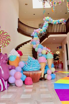 Chakoda Design *'s Birthday / Candyland - Photo Gallery at Catch My Party Candy Theme Birthday Party, Candy Party, 2nd Birthday Parties, Birthday Party Decorations, 26 Birthday, Craft Party, Candyland, Party Time, Balloons