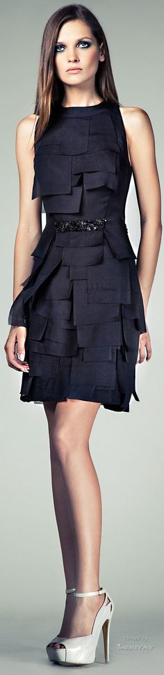 black dress closet ideas women fashion outfit clothing style Tony Ward S S  2014 RTW♥✤  cdaa076b7d2