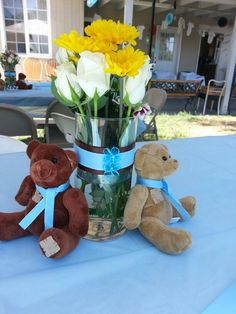 Teddy bear theme  Baby shower centerpiece