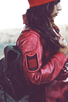 Icon 1000 Federal Jacket in Harmonic Red
