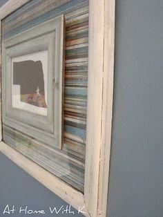 DIY - 2 frames w/ small frame glued on the glass of large frame w/ gorilla glue