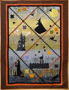 Bat Wing Soup quilt pattern by Joe Wood at Thimble Creek. A row quilt.