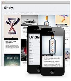 Gridly  Folio WordPress Theme    A free minimal & responsive portfolio theme ideal for graphic designers or photographers.