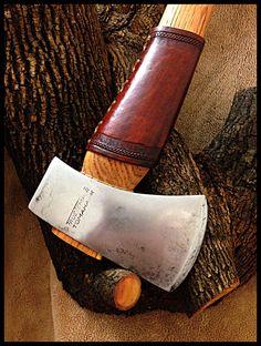 Vintage True Temper Tomahawk Axe w/Leather Guard, restored by John Black
