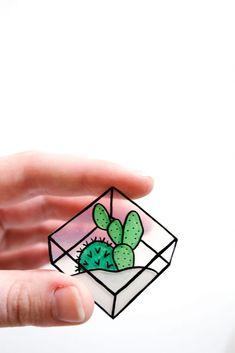 DIY Cactus Terrarium Pins