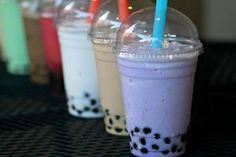BUBBLE TEA! Suck it San Antonio has great flavors like taro and coconut and honeydew avocado
