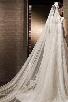 Vestido de noiva Cauda Médio Meia capa Com Franzido Alças largas