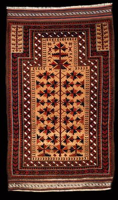 Culture Baluchi people Creation date about 1875 Collection Textiles Materials wool Dimensions 29 x 49 in. | 73.7 x 124.5 cm.