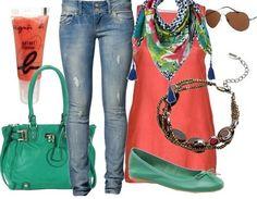 greeeeen & orangeeee http://www.stylefruits.de/outfits