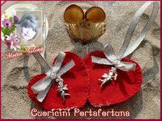 """Cuoricini Portafortuna con Cupido Mi trovi su FACEBOOK: """"Le Bambole di Moira Solena"""" https://www.facebook.com/LeBamboleDiMoiraSolena/"""
