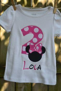 Minnie Mouse Birthday Shirt. $28.00, via Etsy.