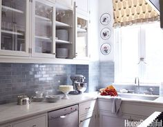Small Kitchen designed by Daniel Sachs, photography Ngoc Minh Ngo for House Beautiful