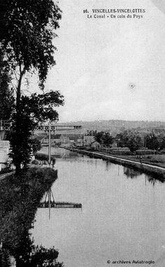 Vue sur le canal du Nivernais