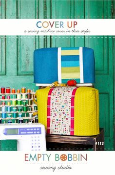 Cute sewing machine cover pattern