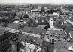 Blick vom Freiburger Münster um 1980