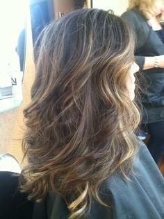 Gorgeous curls and highlights