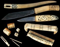 Combs were usually made of antler which is strongest along it's ...
