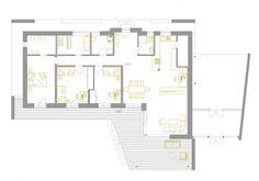 Pasívny dom pre mladú rodinu – rozhovor s architektom L Shaped House Plans, New House Plans, Modern House Plans, Bungalow House Design, Modern House Design, New Home Designs, Cool House Designs, Building Foundation, Architectural House Plans